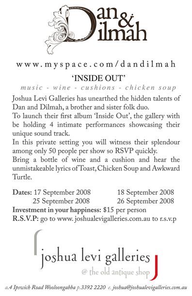 Dan & Dilmah at Joshua Levi Galleries - Brisbane