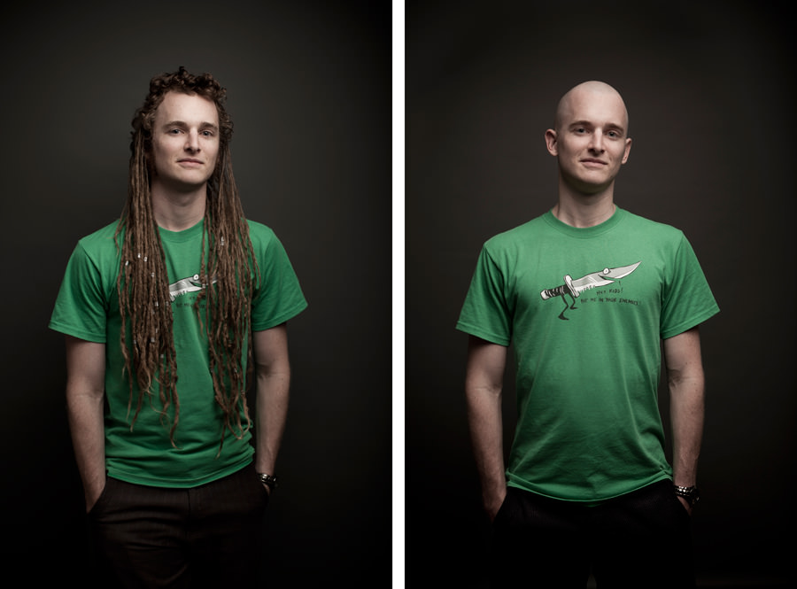 Mark Lobo Photography - Andrew McMillen - Before and After Dreadlocks