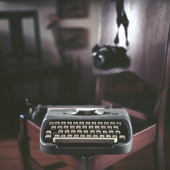 Von Vintage - Typewriter On Hasselblad