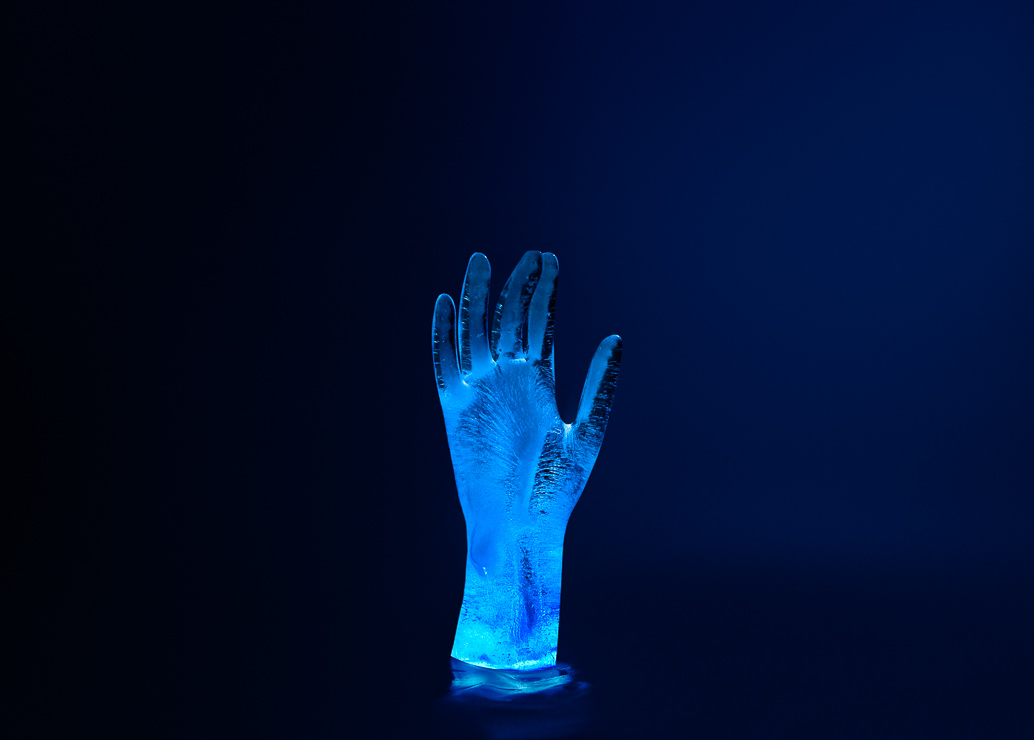 Ice Sculpture Photography - Hand